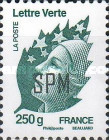 [Marianne - French Postage Stamps Overprinted, Typ ZV3]