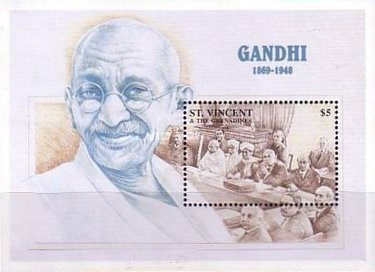 [The 50th Anniversary of the Death of Mahatma Gandhi, 1869-1948, type ]