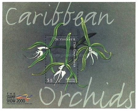 [International Philatelic Exhibition THE STAMP SHOW 2000, London - Orchids, type ]