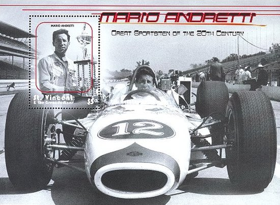 [The Athletes of the 20th Century - Mario Andretti, type ]
