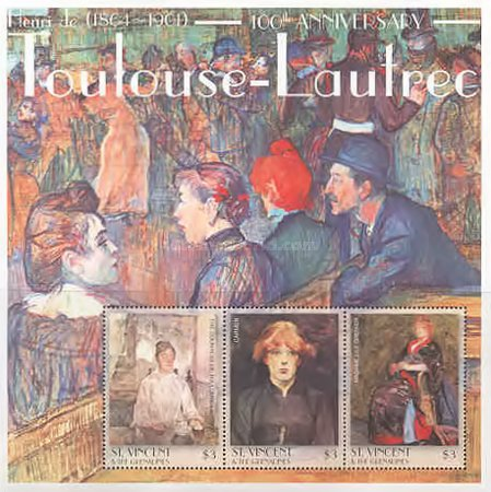 [The 100th Anniversary of the Death of Henri de Toulouse-Latrec, 1864-1901, Typ ]