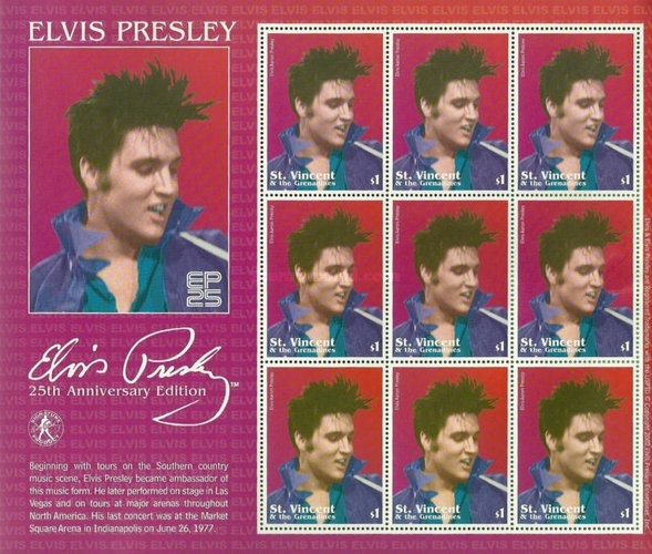 [The 25th Anniversary of the Death of Elvis Presley, 1935-1977, type ]