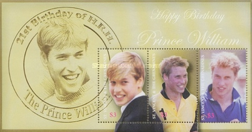 [The 21st Anniversary of the Birth of Prince William, Typ ]
