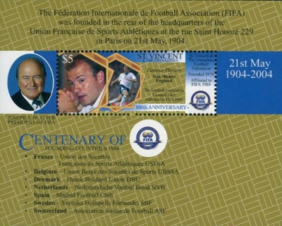 [The 100th Anniversary of FIFA, Typ ]