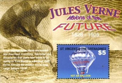 [The 200th Anniversary of the Death of Jules Verne, 1818-1905, Typ ]
