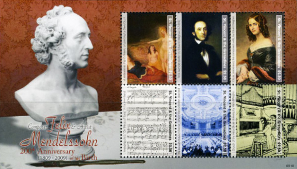 [The 200th Anniversary of the Birth of Felix Mendelssohn Bartholdy, 1809-1849, Typ ]