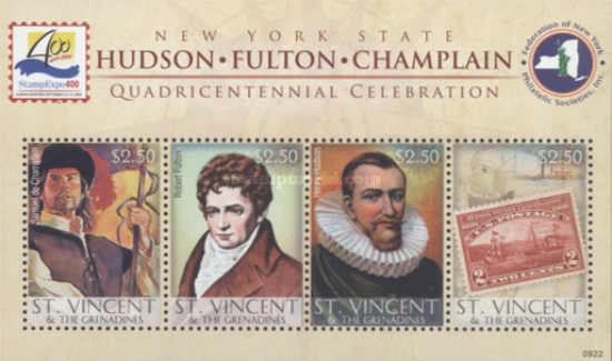 [The 400th Anniversary of the Discovery of the Hudson River, type ]