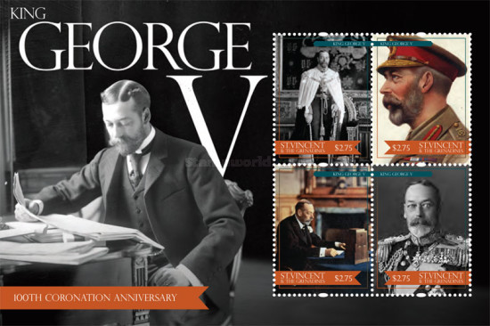 [Royal Anniversaries - The 100th Anniversary of the Coronation of king George V, Typ ]
