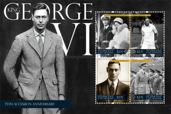[Royal Anniversaries - The 75th Anniversary of the Accession of King George VI, Typ ]