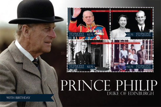 [Royal Anniversaries - The 90th Anniversary of the Birth of Prince Philip, Typ ]