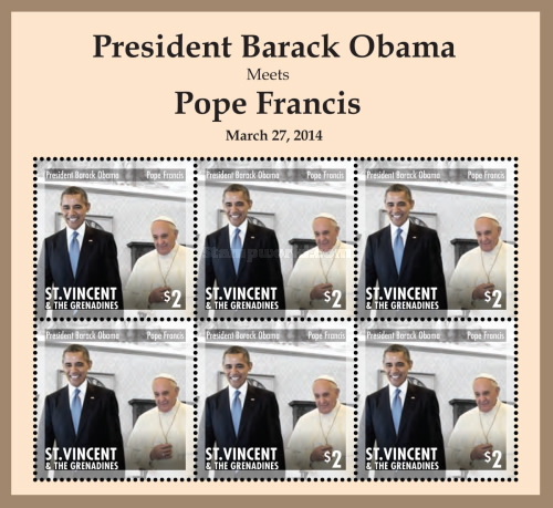[Barack Obama and Pope Francis, type ]