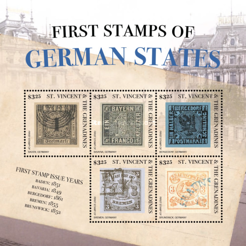 [First Stamps of the German States, Typ ]