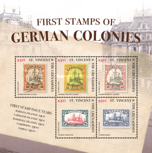 [First Stamps of the German Colonies, Typ ]