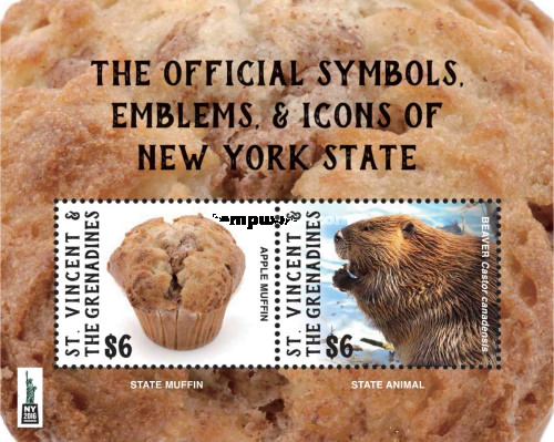 [World Stamp Show NY 2016 - Emblems & Icons pf New York State, Typ ]