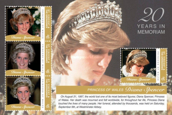 [The 20th Anniversary of the Death of Princess Diana, 1961-1997, Typ ]