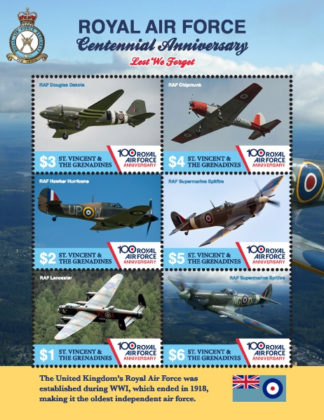 [The 100th Anniversary of the RAF - Royal Air Force, Typ ]