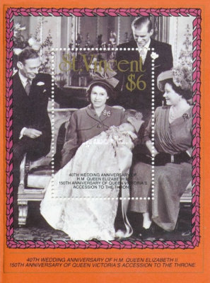 [The 40th Anniversary of the Wedding of Queen Elizabeth II and Prince Philip, and the 150th Anniversary of Queen Victoria's Accession, type ]