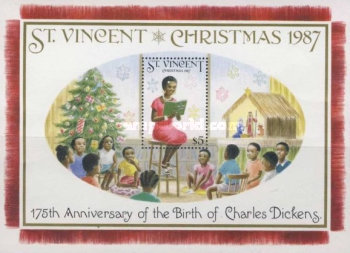 [Christmas - The 175th Anniversary of the Birth of Charles Dickens, 1812-1870 - Scenes from his Christmas Stories, type ]