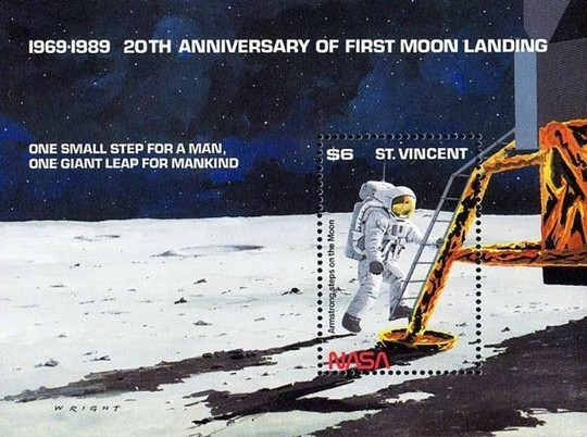 [The 20th Anniversary of First Manned Landing on Moon, type ]
