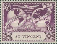 [The 75th Anniversary of Universal Postal Union, Typ AH]