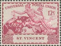 [The 75th Anniversary of Universal Postal Union, type AI]
