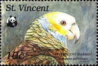 [Worldwide Nature Protection - St. Vincent Amazon, type AIE]
