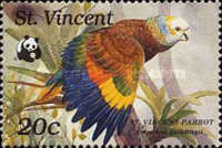 [Worldwide Nature Protection - St. Vincent Amazon, type AIF]
