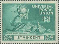 [The 75th Anniversary of Universal Postal Union, type AJ]