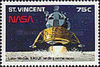 [The 20th Anniversary of First Manned Landing on Moon, type ALN]