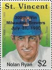 [Achievements of the American Baseball Player Nolan Ryan - Overprinted