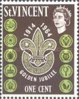 [The 50th Anniversary of Scouting in St. Vincent, type AV]