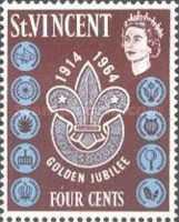 [The 50th Anniversary of Scouting in St. Vincent, type AV1]