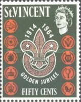 [The 50th Anniversary of Scouting in St. Vincent, type AV3]