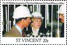 [The 10th Anniversary of the Wedding of Prince Charles and Princess Diana, type BAJ]