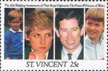 [The 10th Anniversary of the Wedding of Prince Charles and Princess Diana, type BAK]