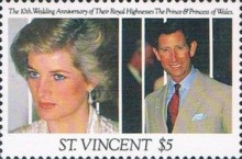[The 10th Anniversary of the Wedding of Prince Charles and Princess Diana, type BAM]