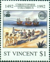 [Organization of East Caribbean States or OECS - The 500th Anniversary of Discovery of America, type BNW]