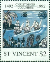 [Organization of East Caribbean States or OECS - The 500th Anniversary of Discovery of America, type BNX]