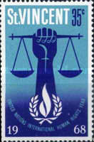 [International Human Rights Year & the 20th Anniversary of Universal Declaration of Human Rights by the United Nations, type CH]