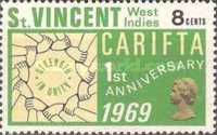 [The 1st Anniversary of Caribbean Free Trade Area or CARIFTA, Typ CM1]