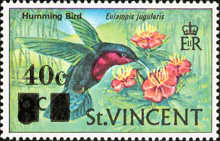 [Birds - Postage Stamps of 1970 Surcharged, Typ CY1]