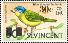 [Birds - Postage Stamps of 1970 Surcharged, Typ DD1]