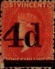 [No. 17 & 25A Surcharged, type E1]