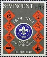 [The 60th Anniversary of Scout Movement in St. Vincent, type FW2]