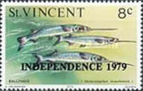 [Independence Day - Marine Life Stamps of 1975-1976 Overprinted