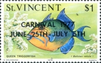 [Marine Life Stamps of 1975 Overprinted