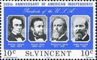[The 200th Anniversary of Independence of the United States of America - Presidents of the United States, type HU]
