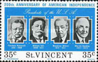 [The 200th Anniversary of Independence of the United States of America - Presidents of the United States, type HW]