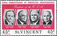 [The 200th Anniversary of Independence of the United States of America - Presidents of the United States, type HX]