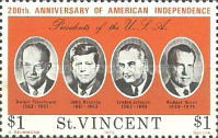 [The 200th Anniversary of Independence of the United States of America - Presidents of the United States, type HY]
